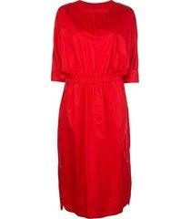 jason wu poplin dress - red