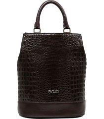bolsa mochila de couro recuo fashion bag café