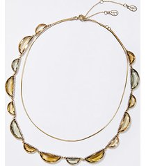 loft half circle stone necklace