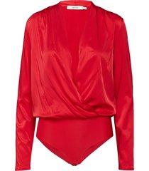 rosiegz body t-shirts & tops bodies röd gestuz