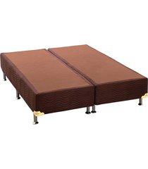 base cama box camurça marrom queen 158x198x23  ortobom - tricae
