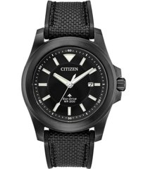 citizen eco-drive men's promaster tough black fabric strap watch 42mm