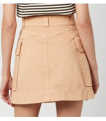 see by chloé women's short front pocket skirt - delicate pink - eu 40/uk 12
