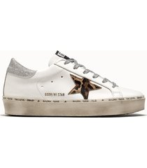 golden goose deluxe brand sneakers hi star colore bianco animalier