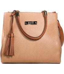 bolsa feminina satchel zariff em couro legítimo