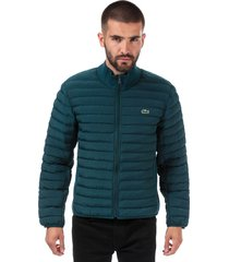 mens combinable lightweight quilted zip jacket