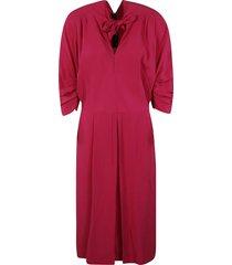 marni rear zip tie-neck dress