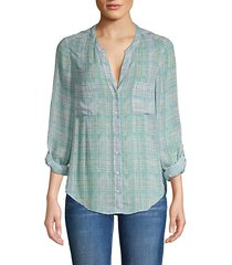checkered silk shirt