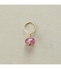gold gemstone birthstone charm - whitetopaz