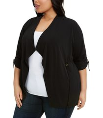 belldini plus size drawstring-waist top