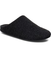 chrissie felt slippers tofflor svart fitflop