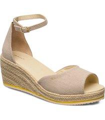 wedgeville plateau sandal sandalette med klack espadrilles beige gant