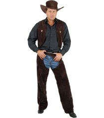 buyseasons men's brown chaps and vest adult costume