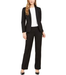 le suit one-button straight-leg pantsuit