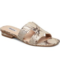 loupe shoes summer shoes flat sandals beige dune london
