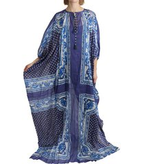 majolica cape maxi dress