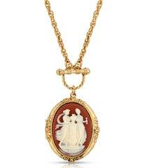 2028 color cameo grecian muses locket necklace