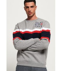 superdry men's applique weekend sweatshirt