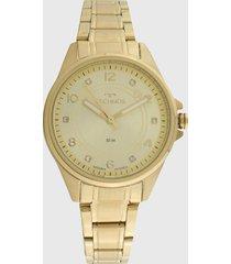 relógio technos 2035mrn/4x dourado