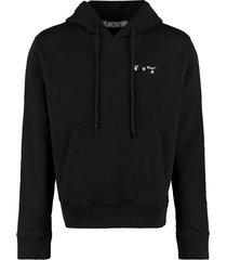 off-white logo cotton hoodie