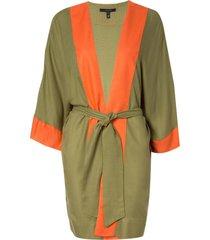 kimono rosa chá tina military green beachwear verde feminino (capulet olive, g)