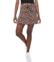 short falda lazo i negro flores  corona