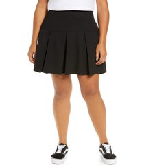 bp. bp knit tennis skirt, size 3x in black at nordstrom