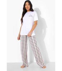 petite hello beautiful pyjama set met broek, nude