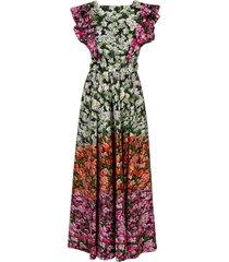 noor stripe valley dress