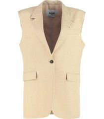 msgm sleeveless jacket