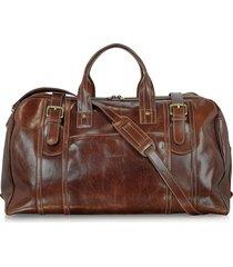 chiarugi designer travel bags, large brown italian leather holdall bag travel bag
