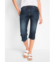 capri jeans in used look met comfortband