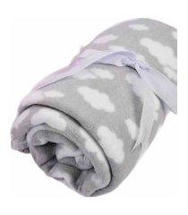cobertor 70x90cm alvinha ref.5943 / 5944 / 5945 - minasrey-cinza