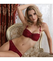 women's underwear bow bra set sexy lingerie fashion lace comfortable ultra-thin
