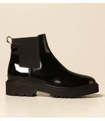 hogan flat booties chelsea h543 hogan ankle boot in brushed leather