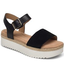 lana shore shoes summer shoes flat sandals svart clarks