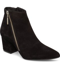 biacalais suede ankle boot shoes boots ankle boots ankle boots with heel svart bianco