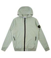 stone island zip-up sweatshirt - cinza