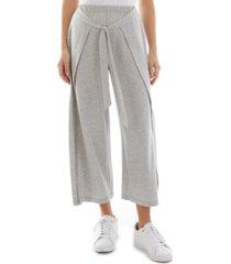 bcx juniors' cotton cropped wide-leg wrap pants