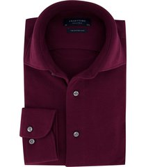 profuomo overhemd knitted bordeaux slim fit