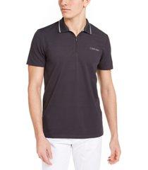 calvin klein men's ck move 365 zip polo shirt