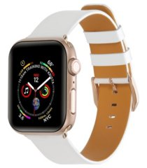 unisex white patent leather replacement band for apple watch, 42mm