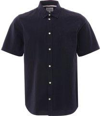 norse projects osvald seersucker shirt   dark navy   n40-0478 7004