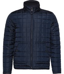 reversible quilted jacket - grs/veg doorgestikte jas blauw knowledge cotton apparel