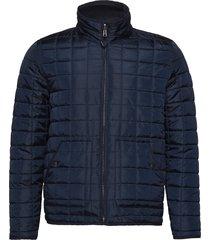 reversible quilted jacket - grs/veg doorgestikte jas blauw knowledge cotton apparel