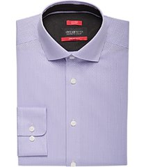 awearness kenneth cole awear-tech lavender stripe slim fit dress shirt