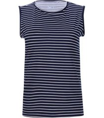 top a rayas color azul, talla l