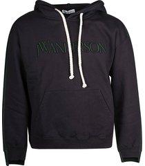 j.w. anderson deconstructed fleece back hoodie