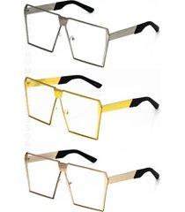 oversized antimatter flat tops with clear lenses eyeglasses glasses