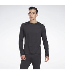 overhemd lange mouw reebok sport thermowarm touch graphic base layer top